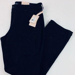NYDJ Straight Black Pants Size 16W--NWT$129